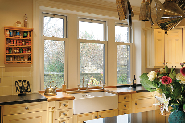 Sliding sash windows in Dorset