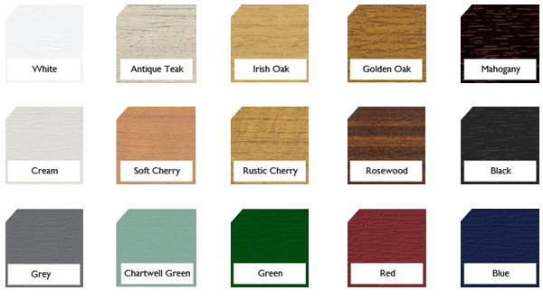 uPVC Frame Colour Options